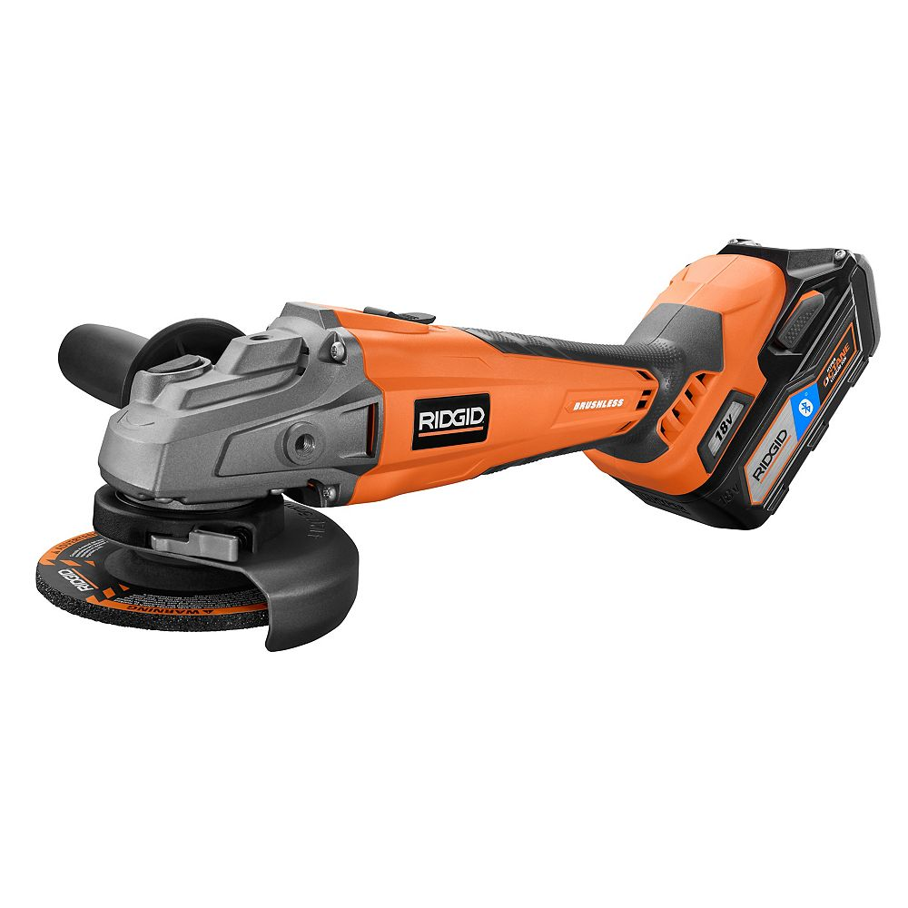 RIDGID 18V GEN5X Cordless Brushless 4-1/2-Inch Angle Grinder Kit w/ 6Ah Battery