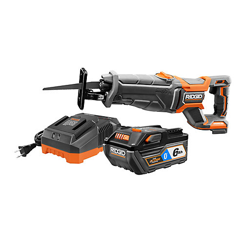 Ensemble de scie à guichet sans fil sans fil sans balais Octane 18 volts avec batterie de 6Ah