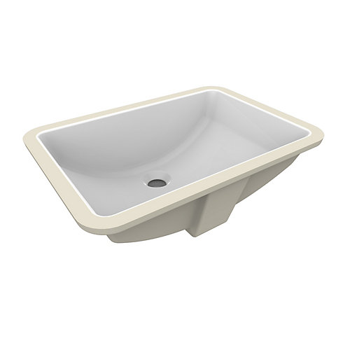Fusion Under-Mount Ceramic Basin Sink in White