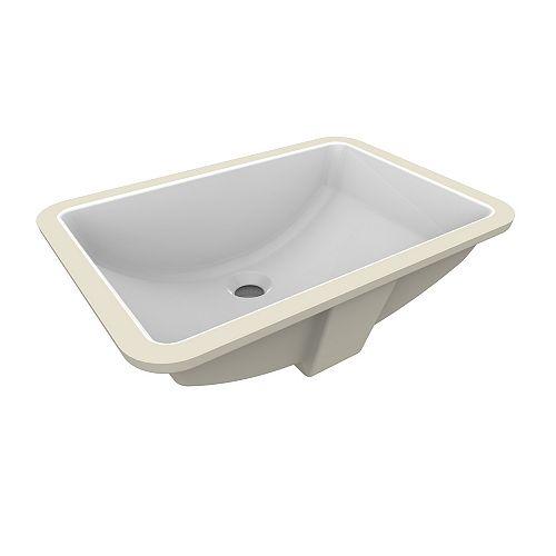 Fusion Under-Mount Ceramic Basin Sink in White
