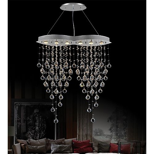 CWI Lighting Robin 32-inch 6 Light Chandelier with Chrome Finish