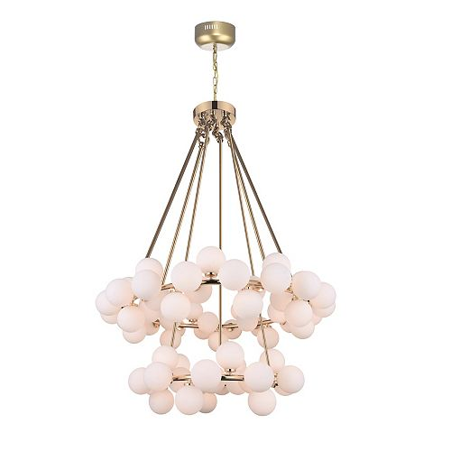 Arya 39-inch 70 Light Chandelier with Satin Gold Finish
