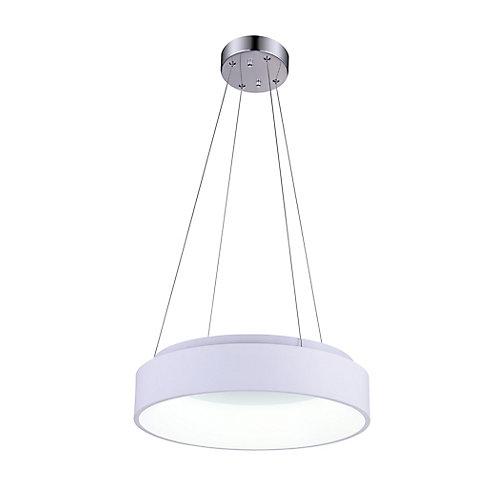 """18"""" Arenal LED-Lustre avec Fini blanc"""