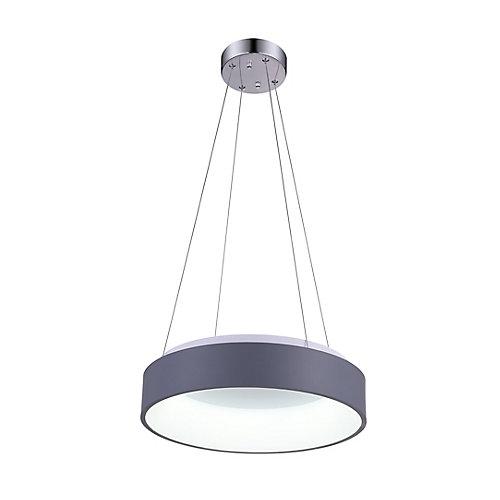 """18"""" Arenal LED-Lustre avec Fini Gris"""