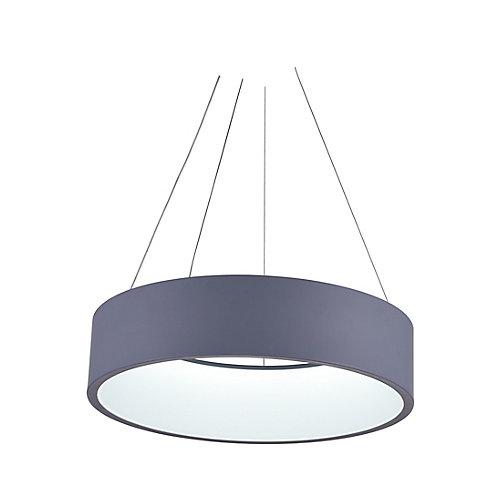 """24"""" Arenal LED Lustre avec Fini Gris"""
