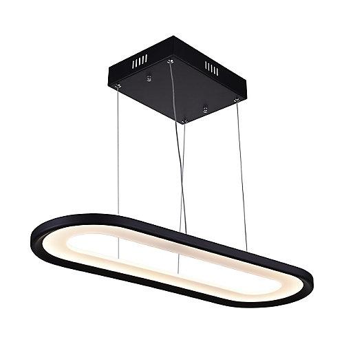 "27"" Capel LED Lustre avec Fini Noir"