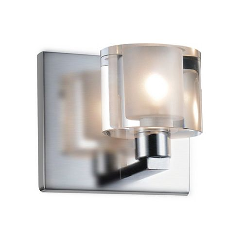 Tina 4-inch 1 Light Wall Sconce with Satin Nickel Finish