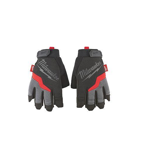 Milwaukee Tool Large Fingerless Work Gloves
