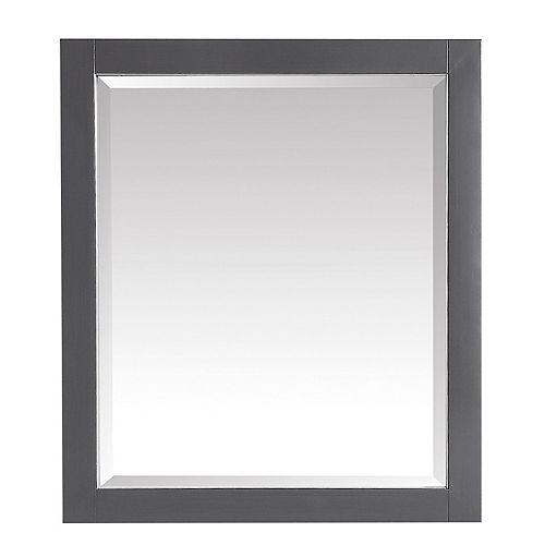 Avanity Miroir de 28po pour meuble-lavabo Allie ou Austen, fini gris crépuscule et garniture argent