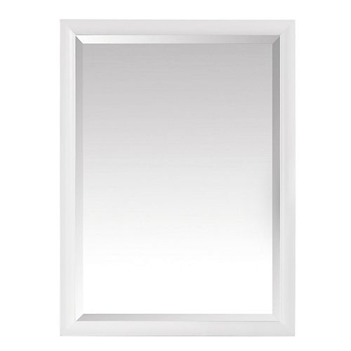 Miroir Emma de 24po, fini blanc