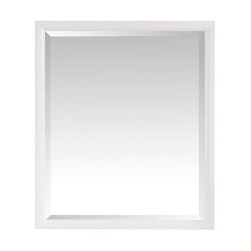Emma 28 inch Mirror in White