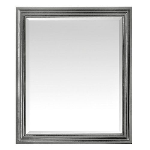 Milano 30 inch Mirror in Light Charcoal finish