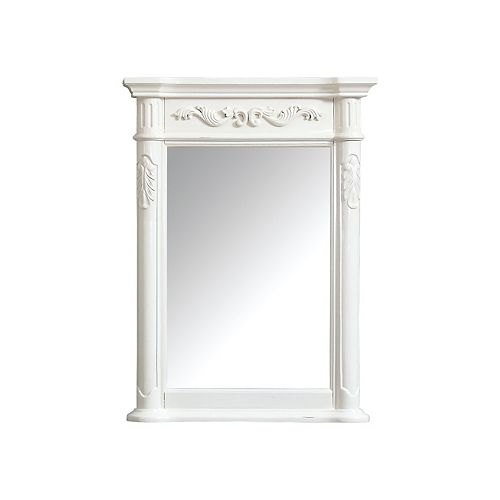 Provence 24 inch Mirror in Antique White finish