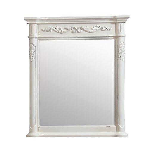 Miroir Provence de 30po, fini blanc antique