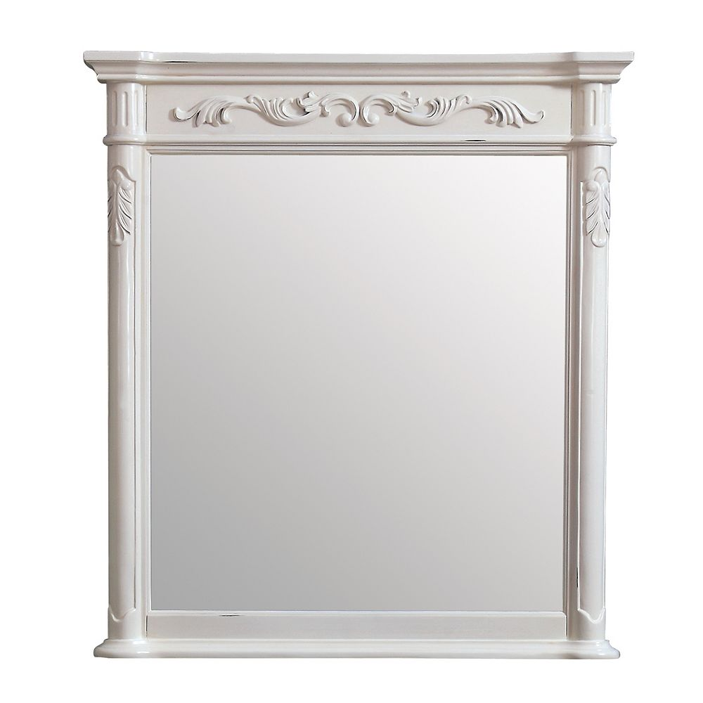 Avanity Provence 36 inch Mirror in Antique White finish