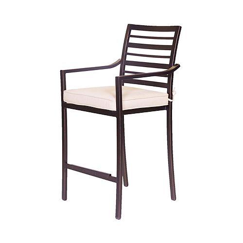 Tabouret de comptoir avec coussin d'assise Antibes, aluminium