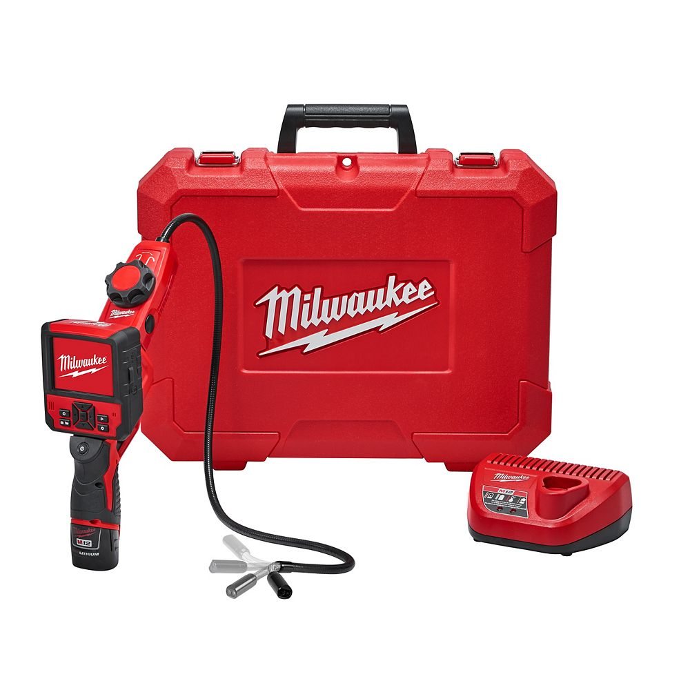 Milwaukee Tool M12 12V Lithium-Ion Cordless M-SPECTOR FLEX Inspection Camera Cable with Pivot View Kit