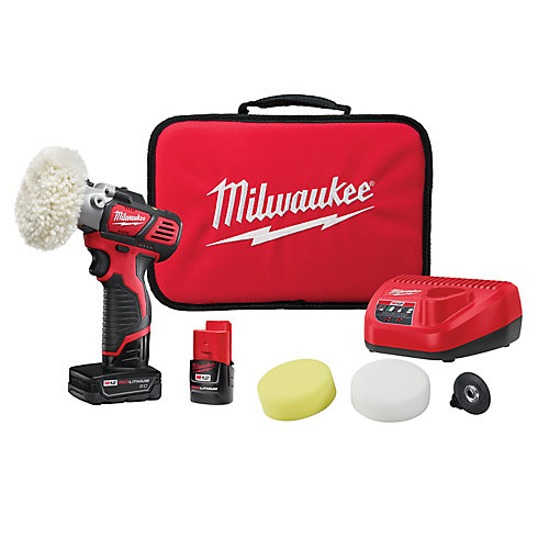 M12 12V Lithium-Ion Cordless Variable Speed Polisher/Sander XC/Compact Battery Kit