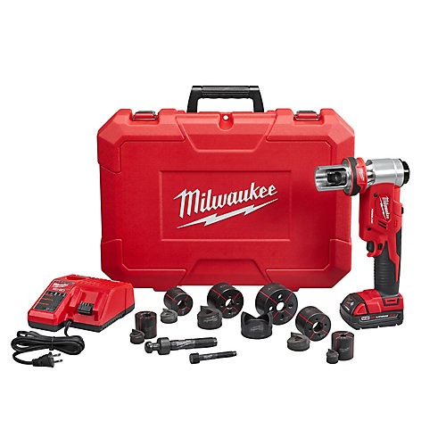 M18 18-Volt Lithium-Ion Cordless Force Logic 6T Knockout Tool 1/2 inch to 2 inch Kit