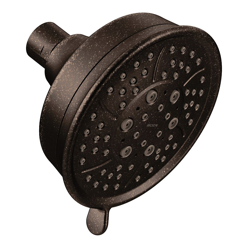 MOEN 4-Spray 4.4-inch Single Wall Mount Fixed Shower Head in Oil Rubbed Bronze