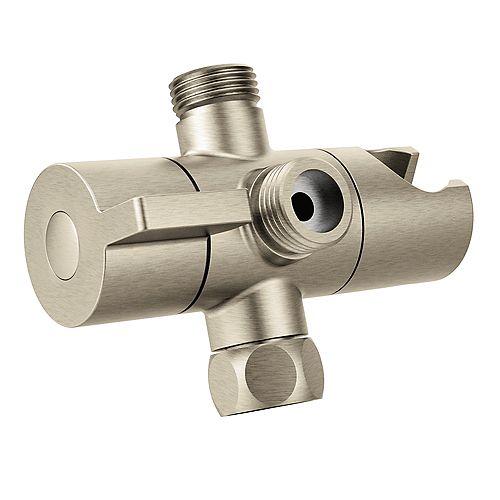 Shower Arm Diverter in Brushed Nickel