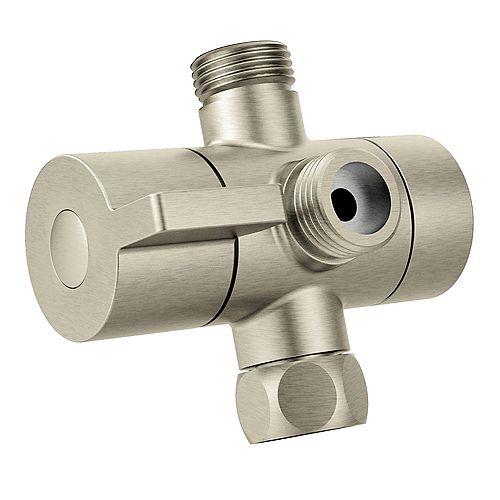 Brushed Nickel Shower Arm Diverter