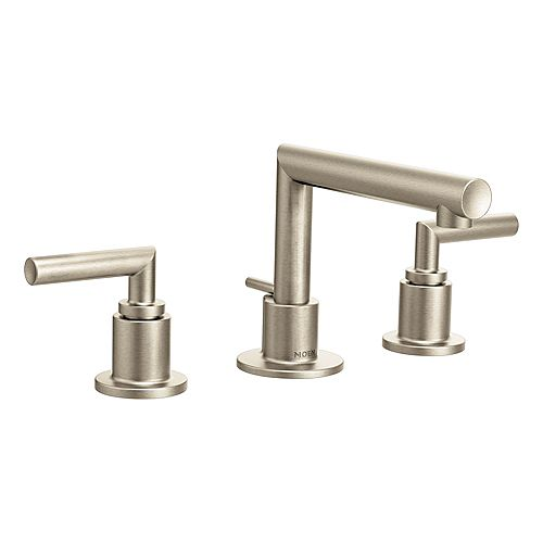 Arris 8-inch Widespread 2-Handle Bathroom Faucet Trim Kit In Brushed Nickel (Valve Sold Separately)
