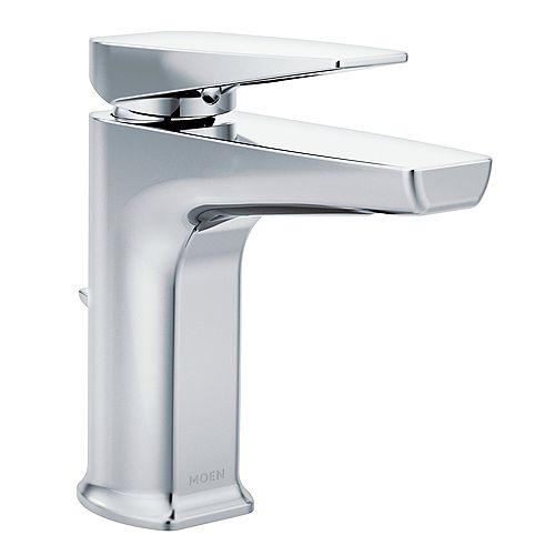 Via Chrome One-Handle Low Arc Bathroom Faucet