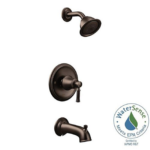 Posi-Temp WaterSense 1-Handle Wall-Mount Tub and Shower Faucet Trim Kit in Oil Rubbed Bronze (Valve Not Included)