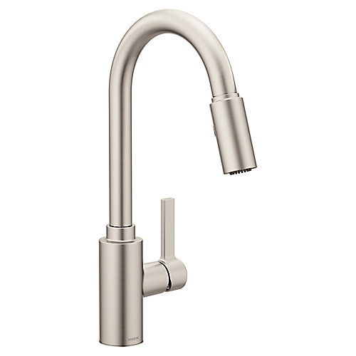 Genta Spot Resist Stainless One-Handle High Arc Pulldown Kitchen Faucet