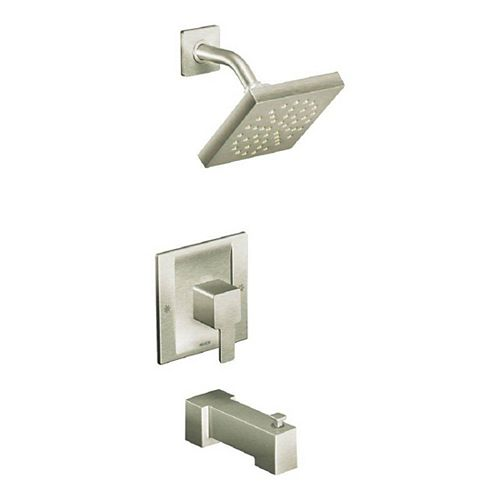 MOEN 90 Degree Single-Handle 1-Spray Moentrol Tub and Shower Faucet Trim Kit in Brushed Nickel (Valve Not Included)