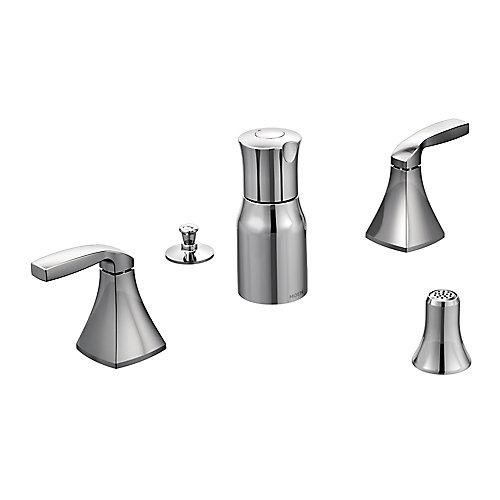 Voss Kit de garniture pour robinet de bidet à 2 poignées en chrome (robinet vendu séparément)