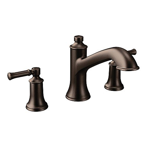 MOEN Dartmoor 8-inch Widespread 2-Handle Roman Tub Bathroom Faucet in Oil Rubbed Bronze (Valve Not Included)