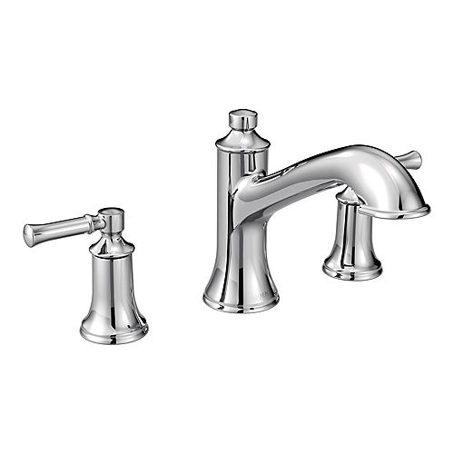 MOEN Dartmoor 8-inch Widespread 2-Handle Roman Tub Bathroom Faucet in Chrome (Valve Not Included)