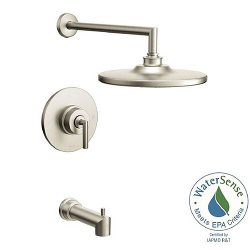 MOEN Arris Posi-Temp Eco-Performance Single-Handle 1-Spray Tub and Shower Faucet in Brushed Nickel (Valve Not Included)