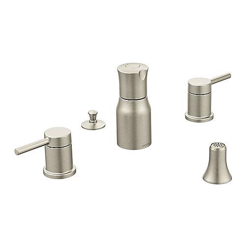 Aligner le robinet de bidet à deux poignées en nickel brossé (robinet vendu séparément)