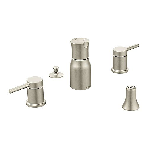 MOEN Align 2-Handle Bidet Faucet Trim Kit in Brushed Nickel (Valve Not Included)