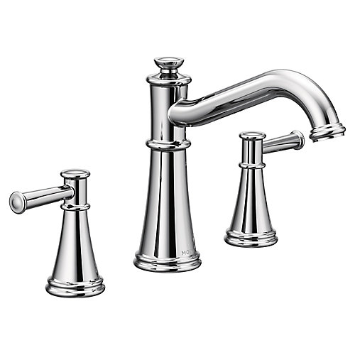 Belfield Two-Handle Non Diverter Roman Tub Faucet in Chrome (Valve Sold Separately)