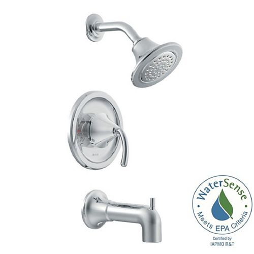 MOEN Icon Posi-Temp 1-Handle Tub and Shower Trim Kit in Chrome (Valve Sold Separately)