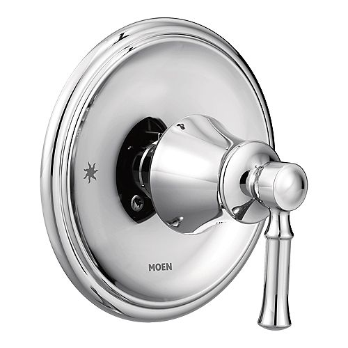 MOEN Dartmoor Posi-Temp Single-Handle Wall-Mount Shower Only Faucet Trim Kit in Chrome (Valve Not Included)
