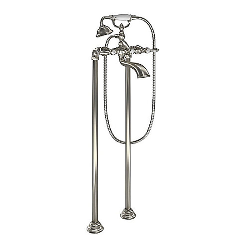 Weymouth Two-Handle Tub Filler Includes Hand Shower in Brushed Nickel (Valve Sold Separately)