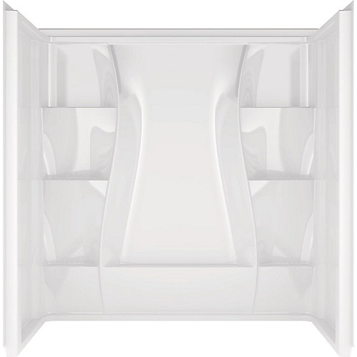 Classic 3-Piece Alcove Acrylic 400 Bathtub Wall Surround in White