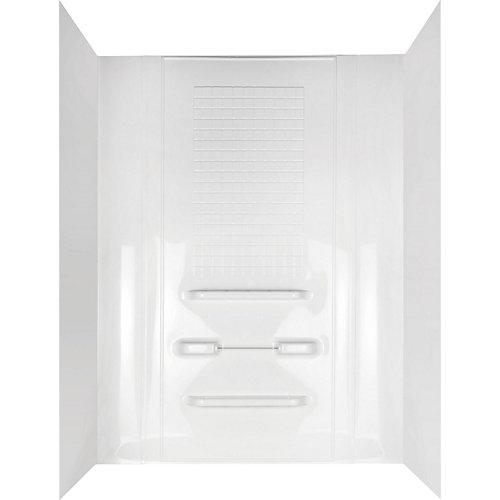 Ensemble de mur de baignoire en alcôve de 5 pièces en blanc