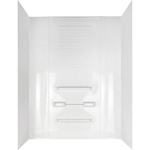 5-Piece Alcove Enhance Bathtub Wall Set in White
