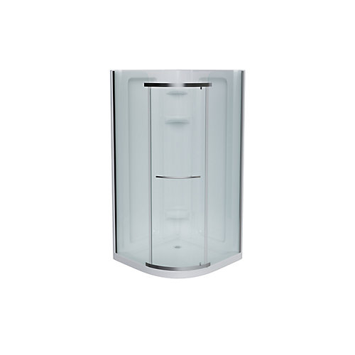 Sorrento 42 Round Front Package Plain Neo-Angle in White