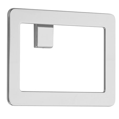 Modern Towel Ring in Polished Chrome
