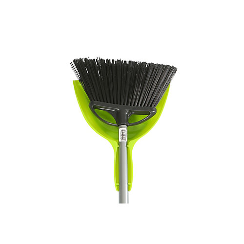 10 inch Angle Broom With 9 inch E-Z Clean Dustpan  Combo