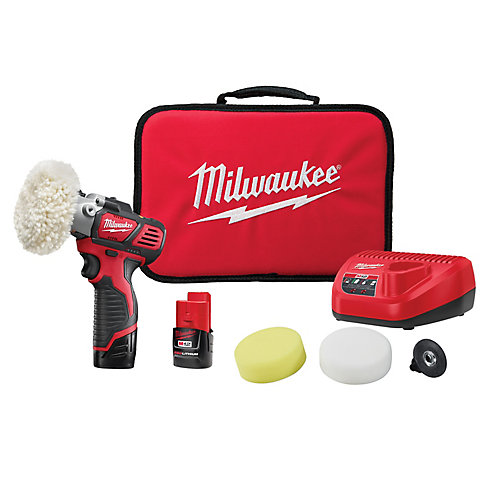 M12 12V Lithium-Ion Cordless Variable Speed Polisher/Sander Kit with (2) 1.5Ah Batteries