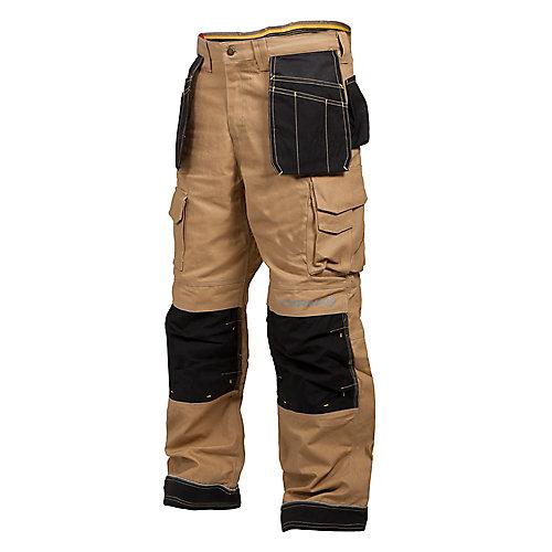 Pantalon de Travail en Canvas avec Poche à Outils BRICK (Beige) 36/32