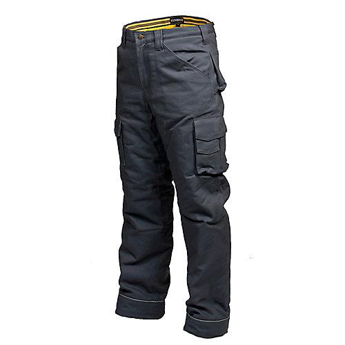 Pantalon de Travail en Canvas Doublé en Flanelle CLIMB (Gris) 32/32